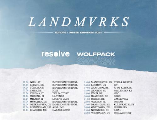 LANDMVRKS, annunciano il tour che passa dall'Italia