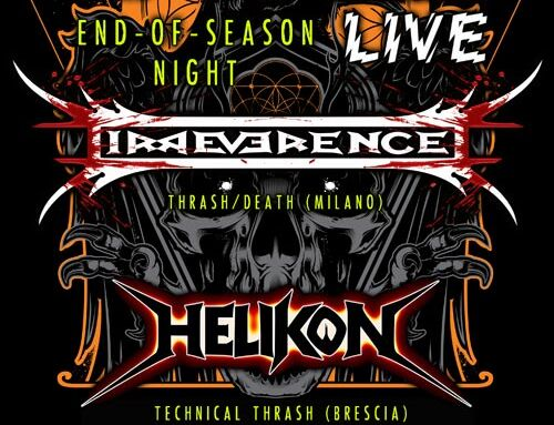 IRREVERENCE e HELIKON, sul palco del Barrio's di Milano per Rock 'N' Roll Radio Live